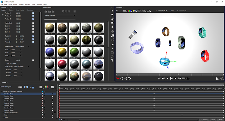 Continuum's Title Studio now with integrated Maxon Cinema 4D