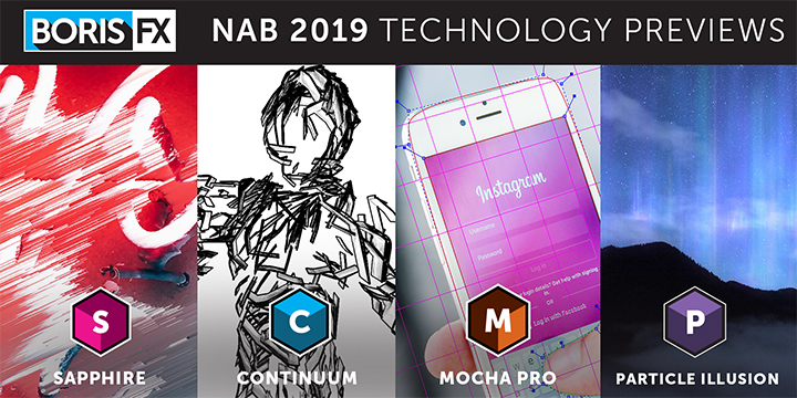 New Sapphire, Continuum, Mocha Pro, and Particle Illusion VFX plug-ins coming soon, see in action at NAB 2019
