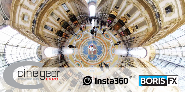 Boris FX at Insta360 booth at Cine Gear 2019