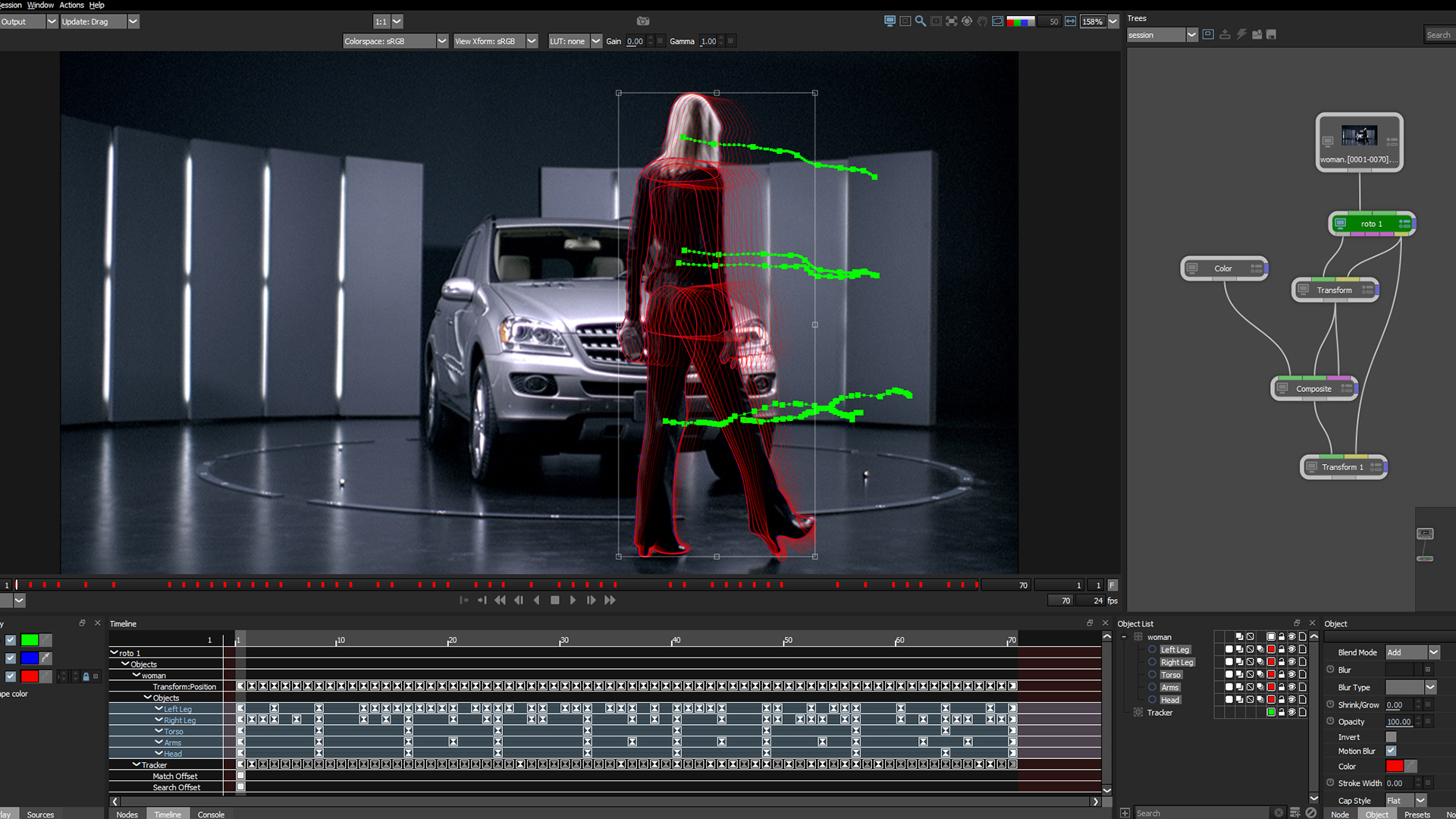 Silhouette rotoscoping interface