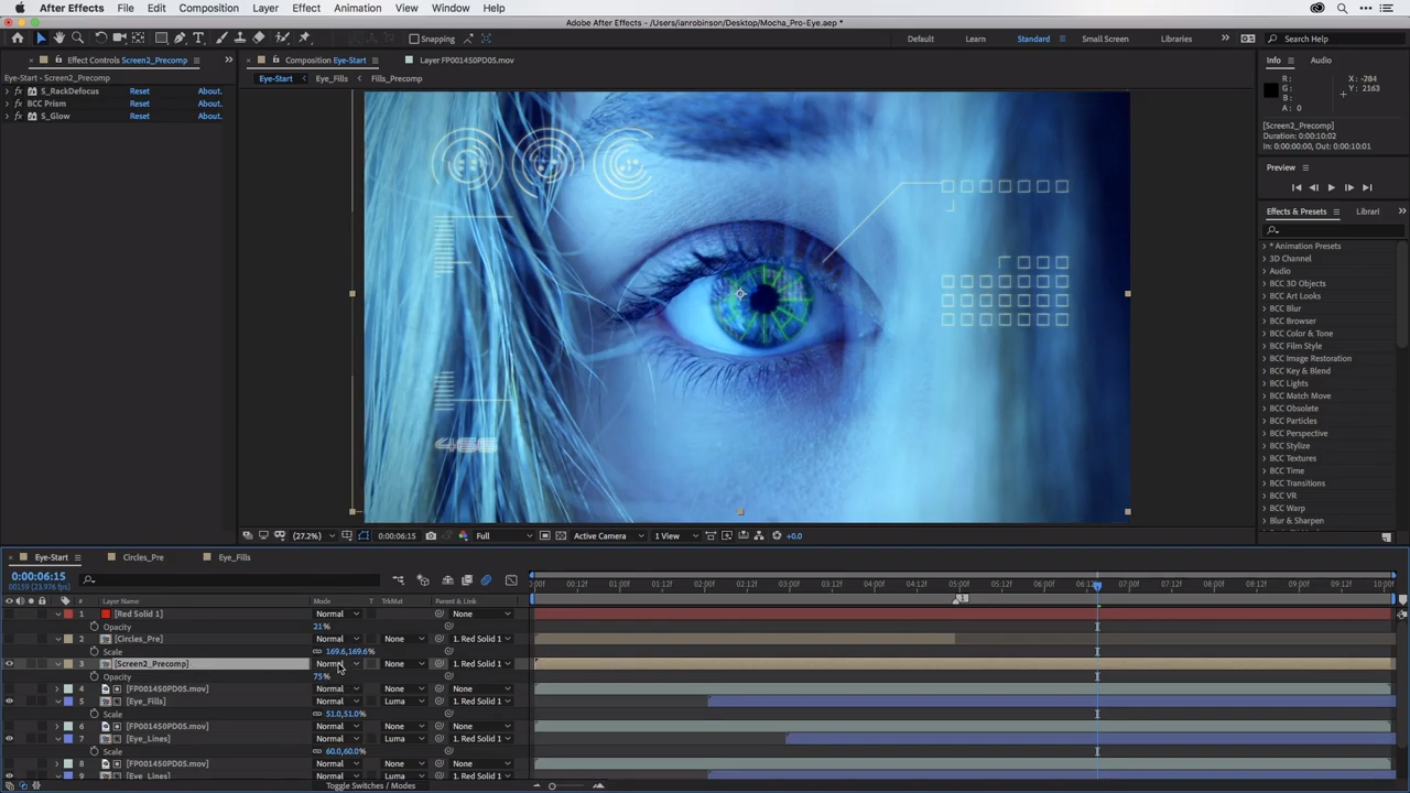 Boris FX plugin interface inside After Effects