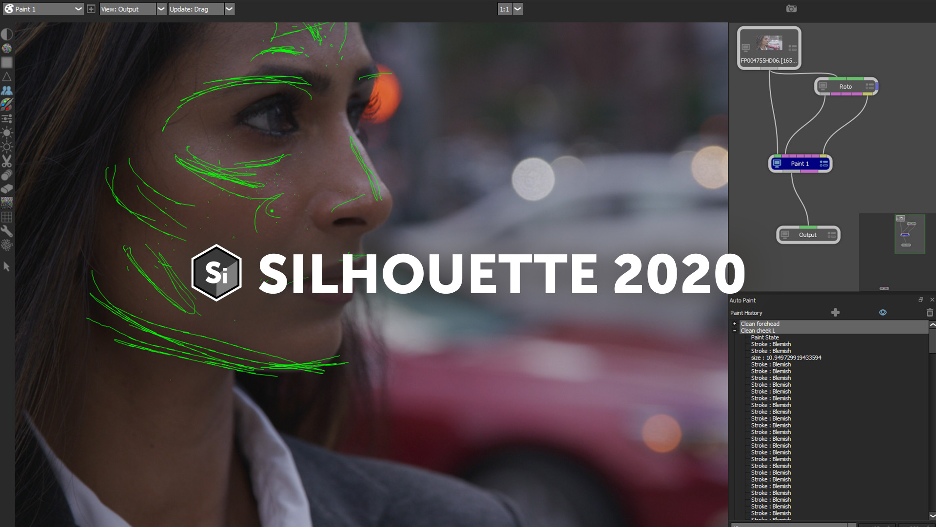 Silhouette 2020 interface with new paint brushes