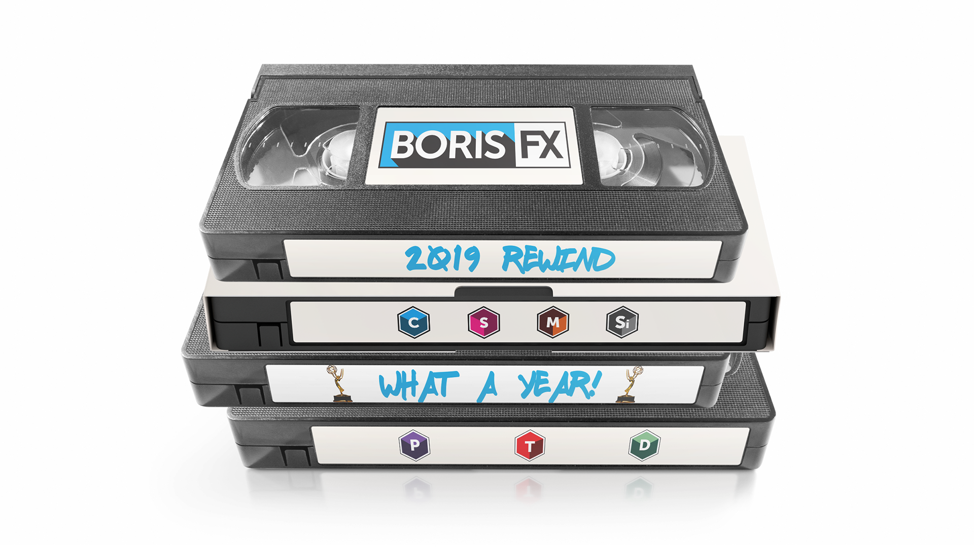 retro VHS tape featuring Boris FX