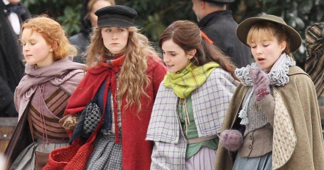 The March sisters walking in Little Women