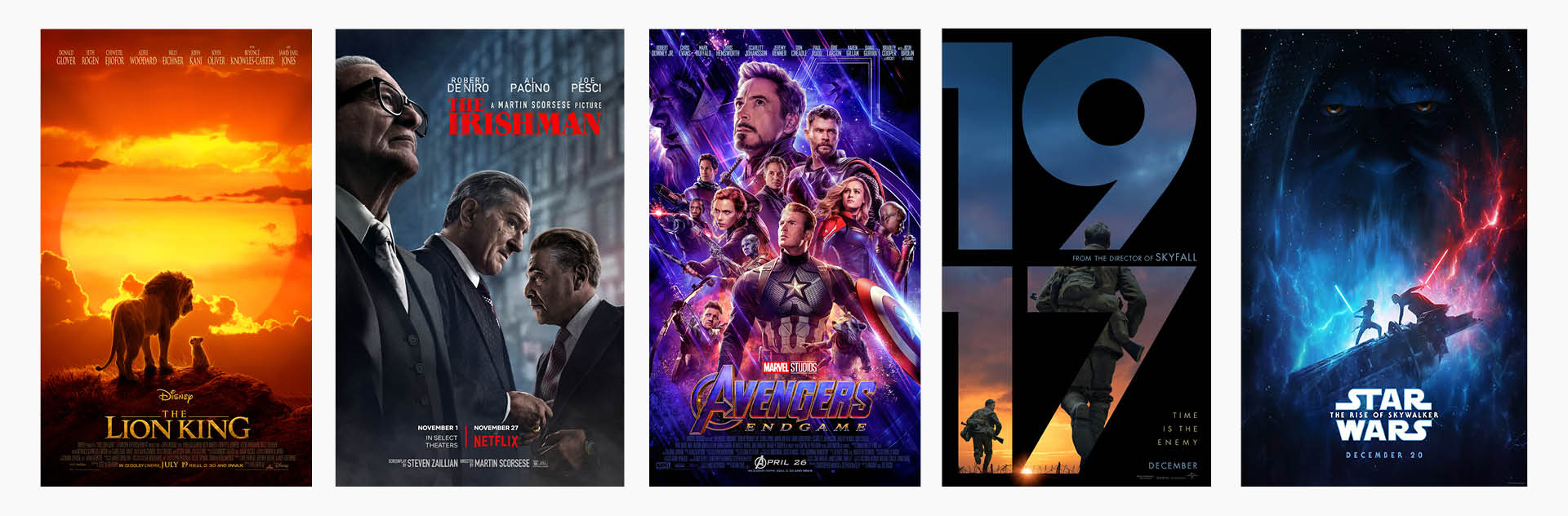 movie posters from Oscars 2020 best visual effect nominees