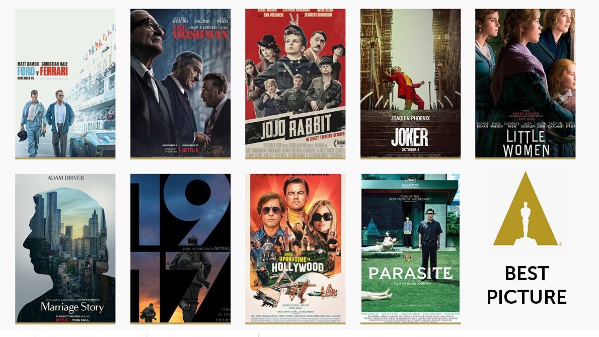 movie posters of all Oscars 2020 best picture nominees