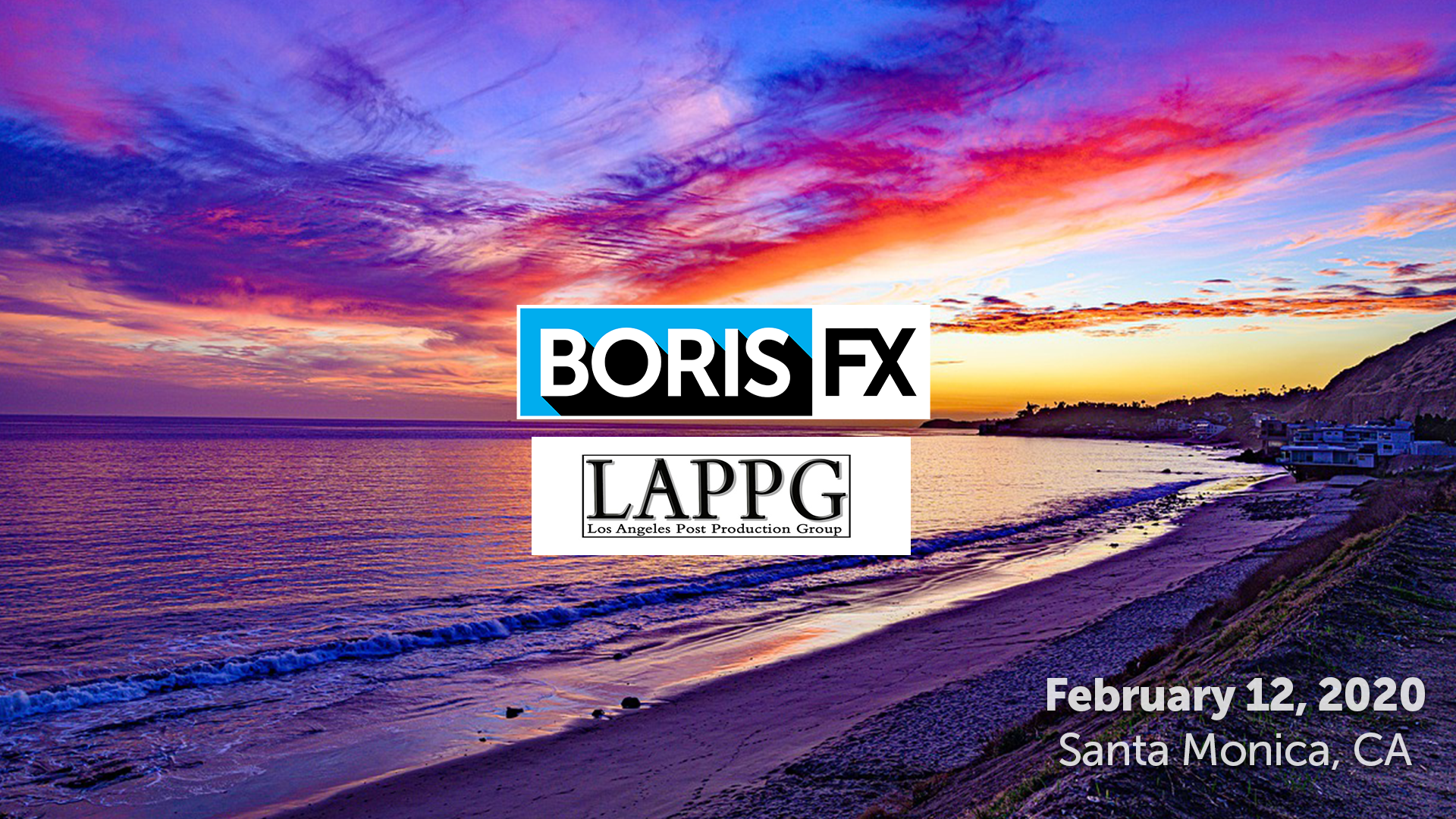 Boris FX and Los Angeles Post Production Group banner
