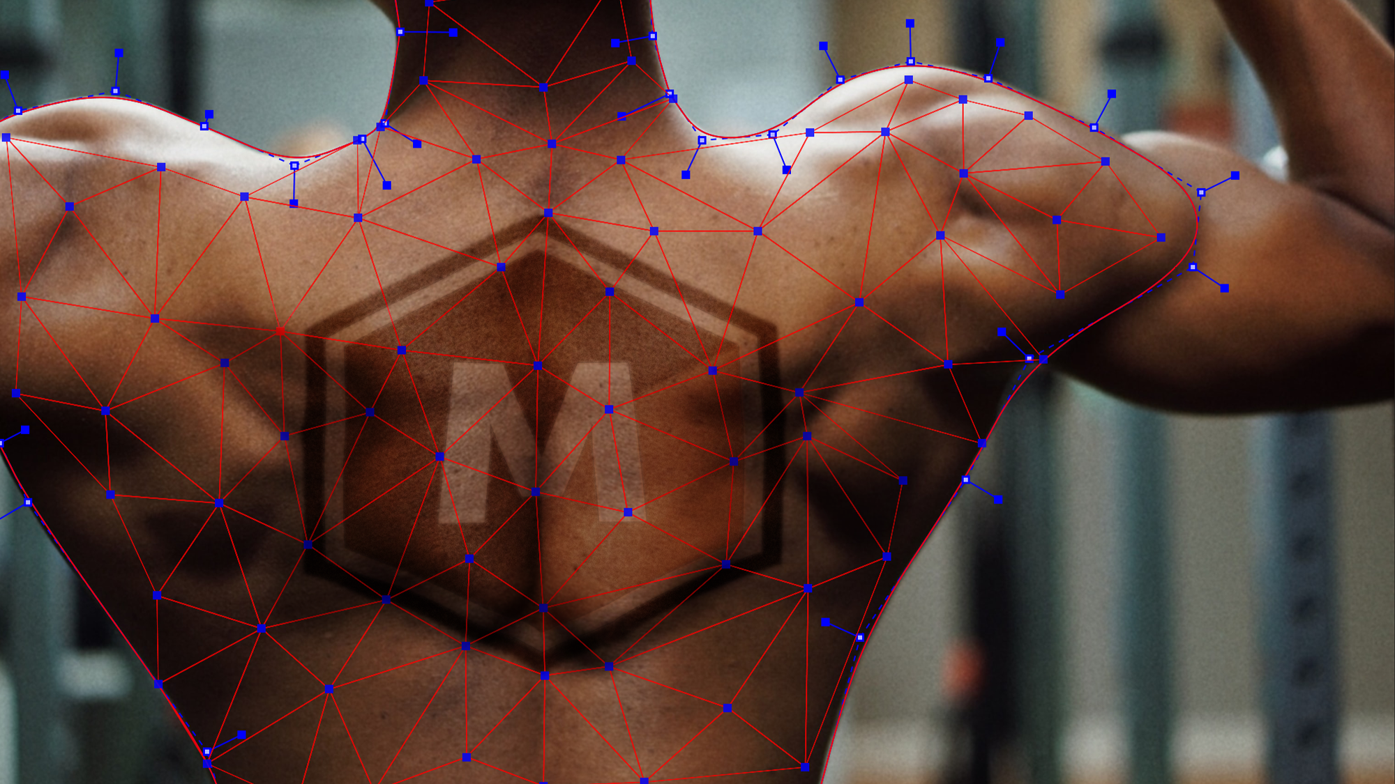 hero image showing Mocha Pro 2021's new PowerMesh tracking feature