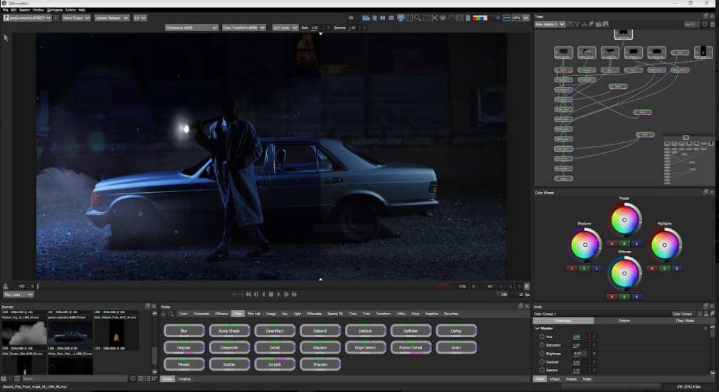 New color correction interface for Silhouette